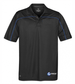 CLEARANCE - Men's Sport Polo-Black
